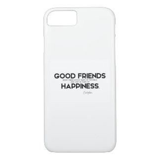 Capa iPhone 8/ 7 CITAÇÕES: Euripides: Bons amigos, felicidade