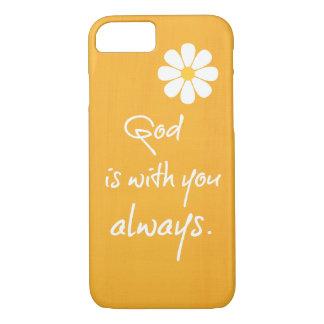 Capa iPhone 8/ 7 Citações inspiradas do deus