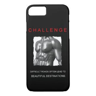 Capa iPhone 8/ 7 citações inspiradores do desafio do sucesso do