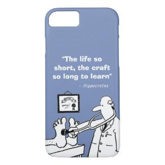 Capa iPhone 8/ 7 Citações médicas inspiradas e imagem engraçada