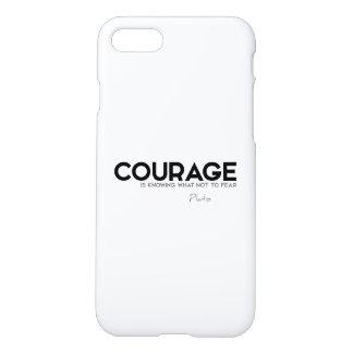 Capa iPhone 8/7 CITAÇÕES: Plato: Coragem