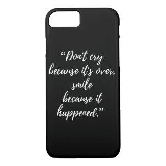 Capa iPhone 8/ 7 citações populares do iphone inspirado do caso das