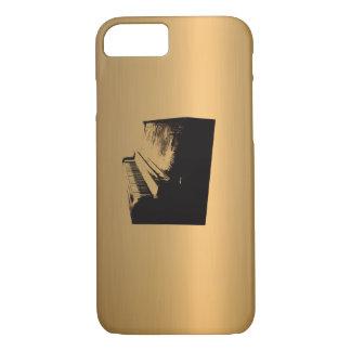 Capa iPhone 8/ 7 Cobre-Efeito de bronze do piano