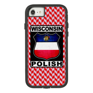 Capa iPhone 8/ 7 Cobrir americano polonês do telefone de Wisconsin