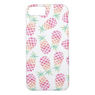 Capa iPhone 8/ 7 Cobrir cor-de-rosa do iphone do teste padrão do