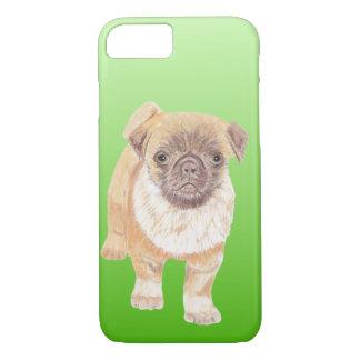 Capa iPhone 8/ 7 Cobrir do telefone do Pug, verde