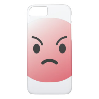 Capa iPhone 8/ 7 Cobrir irritado da cara do emoticon