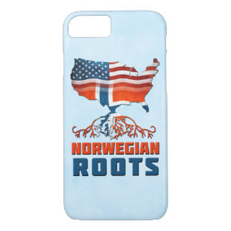Capa iPhone 8/ 7 Cobrir norueguês americano do telefone das raizes