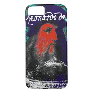Capa iPhone 8/ 7 Colagem dos meios mistos do gênio de Leonardo da