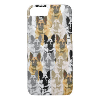 Capa iPhone 8/ 7 Colagem lindo do german shepherd