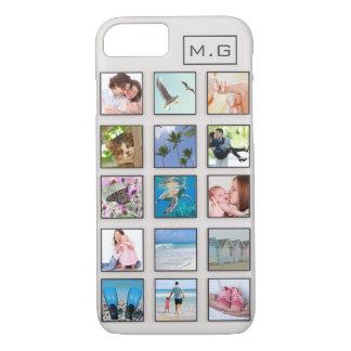 Capa iPhone 8/ 7 Colagem quadrada clássica da foto do quadro