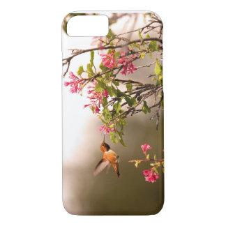 Capa iPhone 8/ 7 Colibri e flores