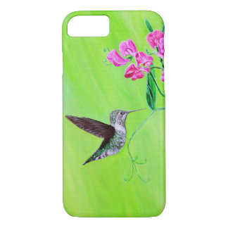 Capa iPhone 8/ 7 Colibri & ervilhas doces