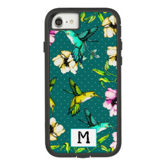 Capa iPhone 8/ 7 Colibris & flores Enchanted da aguarela do jardim