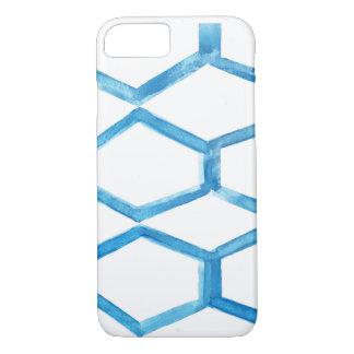 Capa iPhone 8/ 7 Colmeia azul