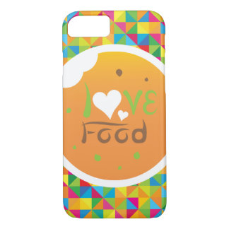 Capa iPhone 8/ 7 Comida colorida super do amor de Crazydeal E5