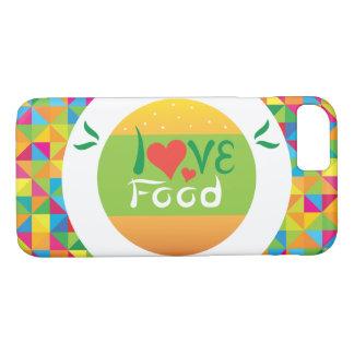 Capa iPhone 8/ 7 Comida colorida super do amor de Crazydeal E6