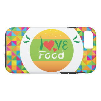 Capa iPhone 8/ 7 Comida colorida super do amor de Crazydeal E7