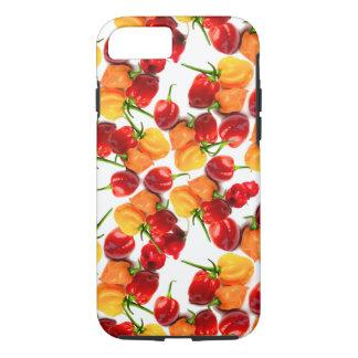Capa iPhone 8/ 7 Comida quente alaranjada das pimentas vermelhas