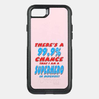 Capa iPhone 8/7 Commuter OtterBox 99,9% Eu sou um SUPER-HERÓI (o preto)