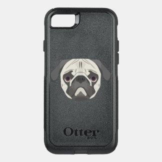 Capa iPhone 8/7 Commuter OtterBox A ilustração persegue o Pug da cara