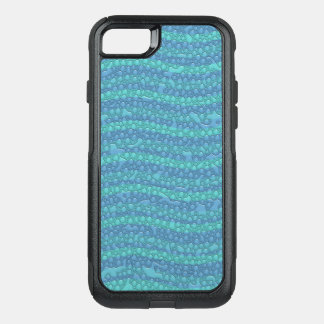 Capa iPhone 8/7 Commuter OtterBox As ondas de água azul, água deixam cair o móbil