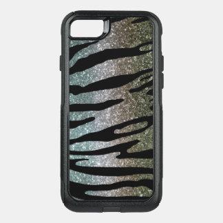 Capa iPhone 8/7 Commuter OtterBox Azul da prata do ouro da caixa da listra do tigre