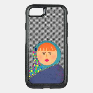 Capa iPhone 8/7 Commuter OtterBox Bolinhas modernas do hipster da boneca do russo de