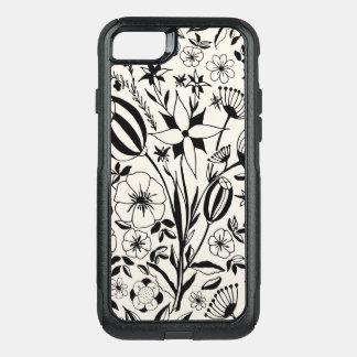 Capa iPhone 8/7 Commuter OtterBox Buquê floral preto e branco