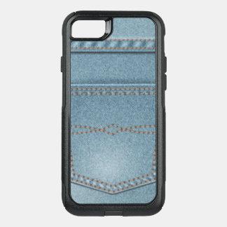 Capa iPhone 8/7 Commuter OtterBox Calças de ganga da sarja de Nimes do bolso