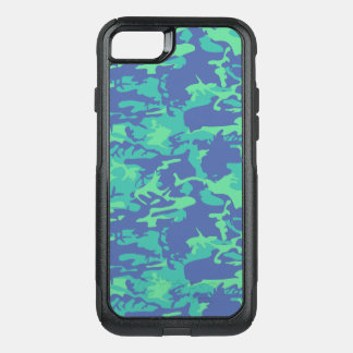 Capa iPhone 8/7 Commuter OtterBox Camo azul e verde