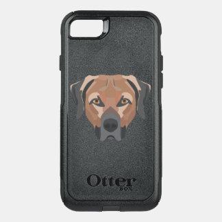 Capa iPhone 8/7 Commuter OtterBox Cão Brown Labrador da ilustração