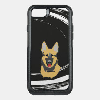 Capa iPhone 8/7 Commuter OtterBox Cão de german shepherd