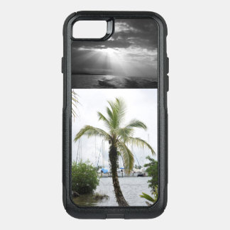 Capa iPhone 8/7 Commuter OtterBox Capa de telefone tropical - por do sol das