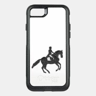 Capa iPhone 8/7 Commuter OtterBox Cavalo do adestramento e capa de telefone do