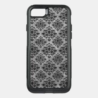Capa iPhone 8/7 Commuter OtterBox Cinzas do preto da cor damasco do crânio do gótico