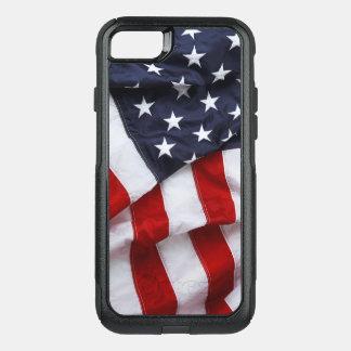 Capa iPhone 8/7 Commuter OtterBox cobrir americano da capa de telefone da bandeira