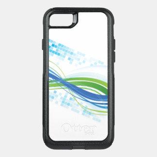 Capa iPhone 8/7 Commuter OtterBox Cobrir branco da capa de telefone do verde azul