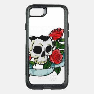 Capa iPhone 8/7 Commuter OtterBox Cobrir do crânio e da capa de telefone das rosas