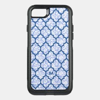 Capa iPhone 8/7 Commuter OtterBox Damascos azuis escuro do azul de pó do teste
