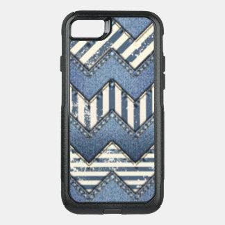Capa iPhone 8/7 Commuter OtterBox Design azul do impressão do teste padrão de