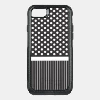 Capa iPhone 8/7 Commuter OtterBox Design branco preto do impressão do teste padrão