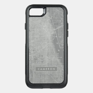 Capa iPhone 8/7 Commuter OtterBox Esboço do mapa da cidade de Chicago
