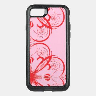 Capa iPhone 8/7 Commuter OtterBox EXTRA GRANDE adorável chique do ROSA das capas de