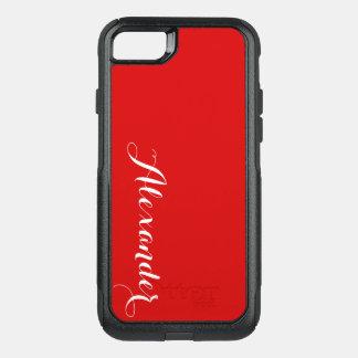 Capa iPhone 8/7 Commuter OtterBox Fundo da cor de DIY, vermelho conhecido do