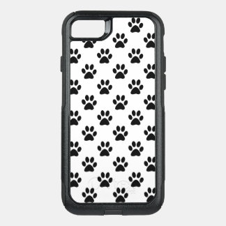 Capa iPhone 8/7 Commuter OtterBox Impressões da pata no preto