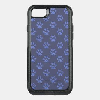 Capa iPhone 8/7 Commuter OtterBox Impressões enlameados da pata em azul escuro