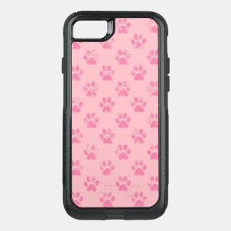 Capa iPhone 8/7 Commuter OtterBox Impressões enlameados da pata no rosa