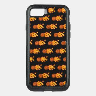 Capa iPhone 8/7 Commuter OtterBox iPhone do basquetebol do fogo 8/7 de caso de