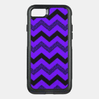 Capa iPhone 8/7 Commuter OtterBox iPhone roxo de Chevron do brilho 8/7 de caso de